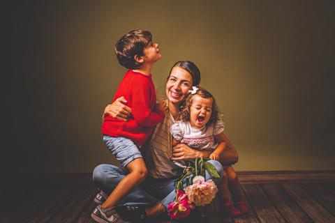 Lua, Asier y Lourdes. MOOMS&KIDS